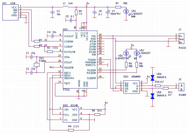 интерфейс RS232 или RS485.